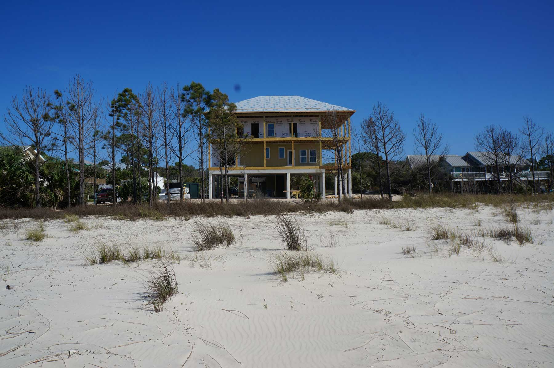 front view new construction home built by Gulf Building Co