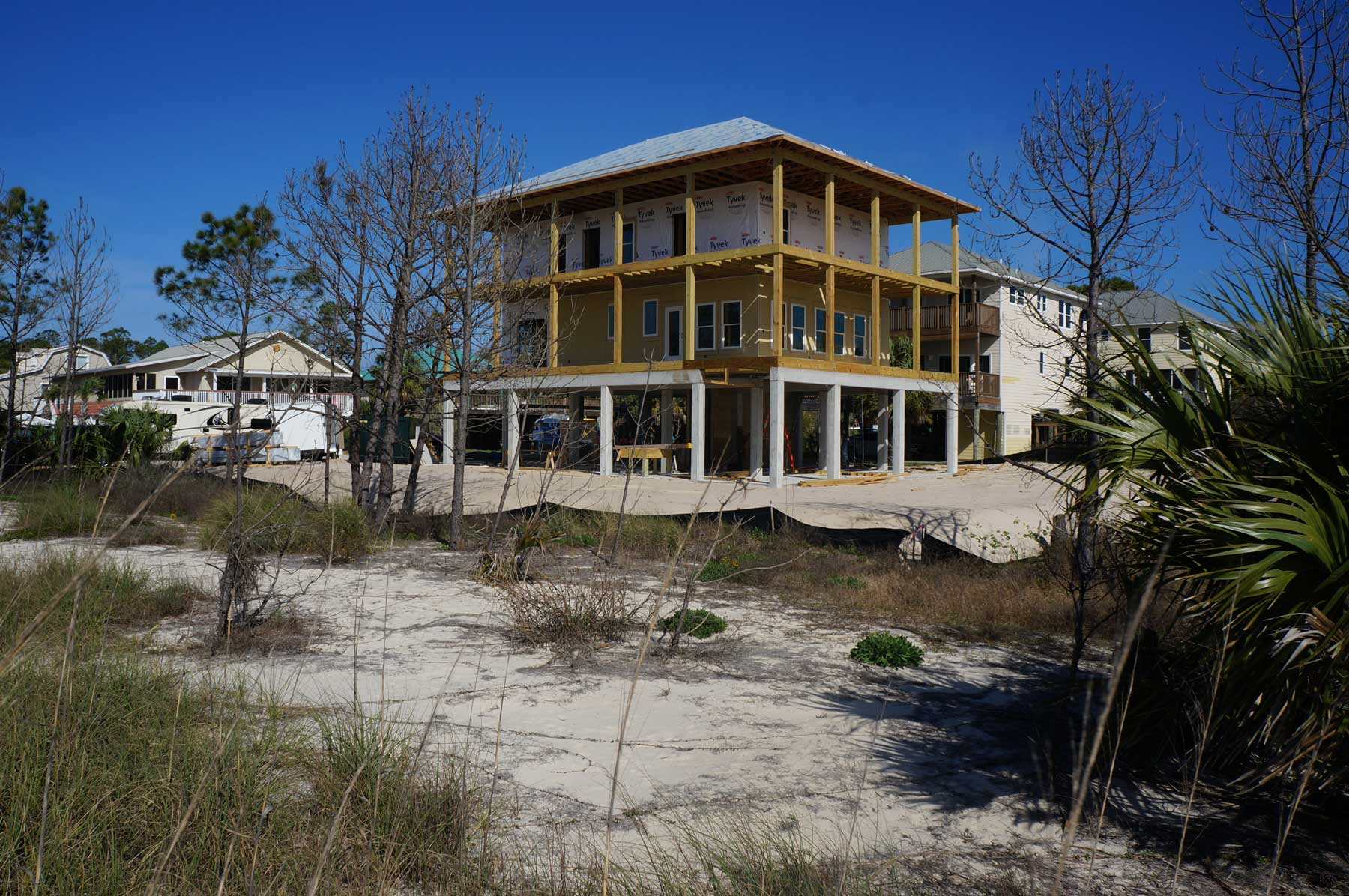 A custom built home near Mexico Beach and Port St Joe Florida