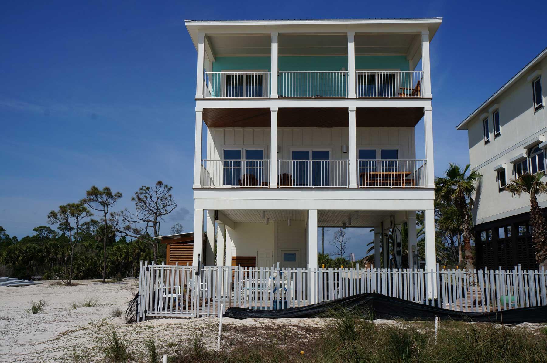 tall coastal custom built home