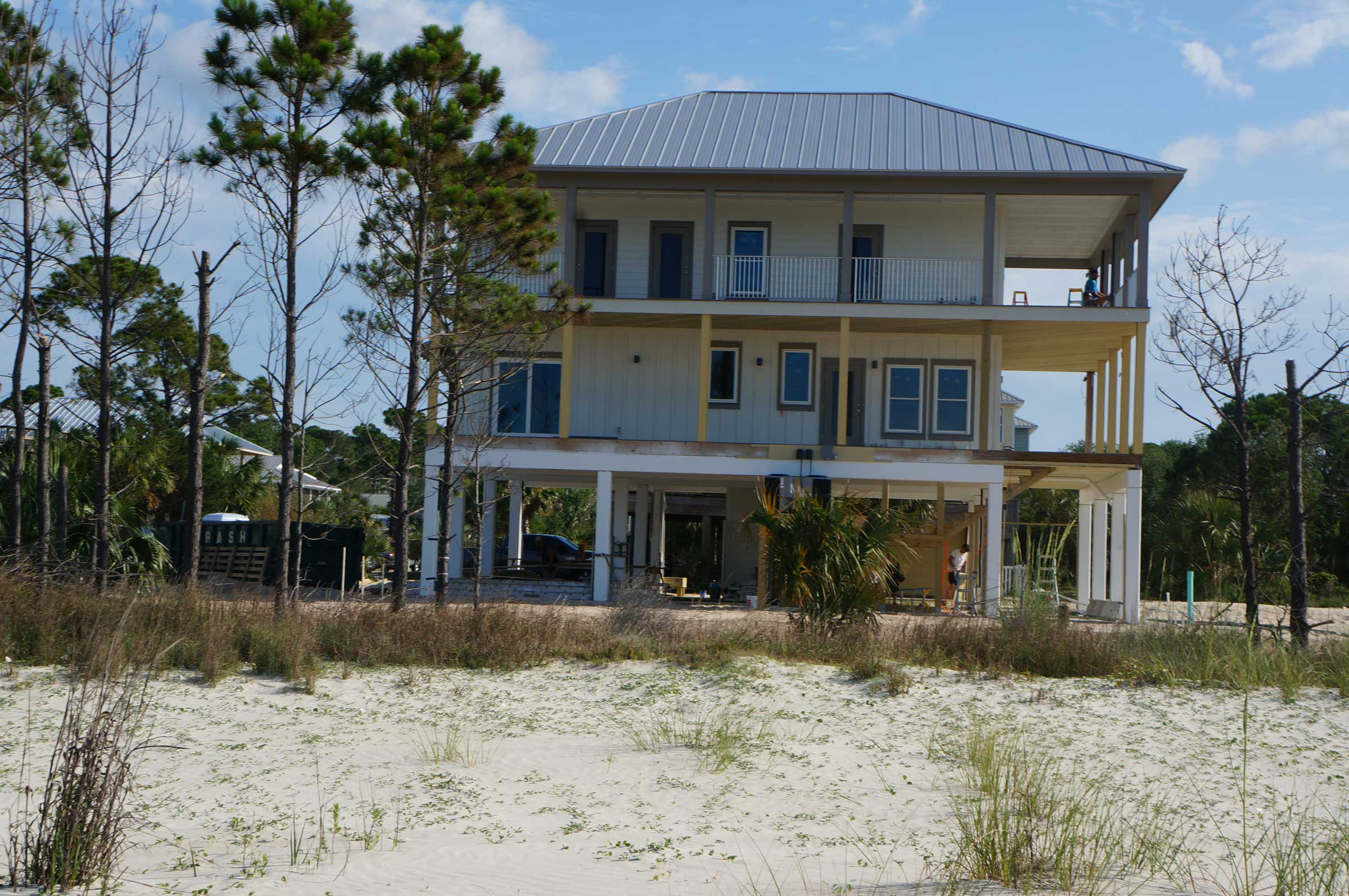 Three story home under construction in Mexico Beach. Are you looking for a new home builder?
