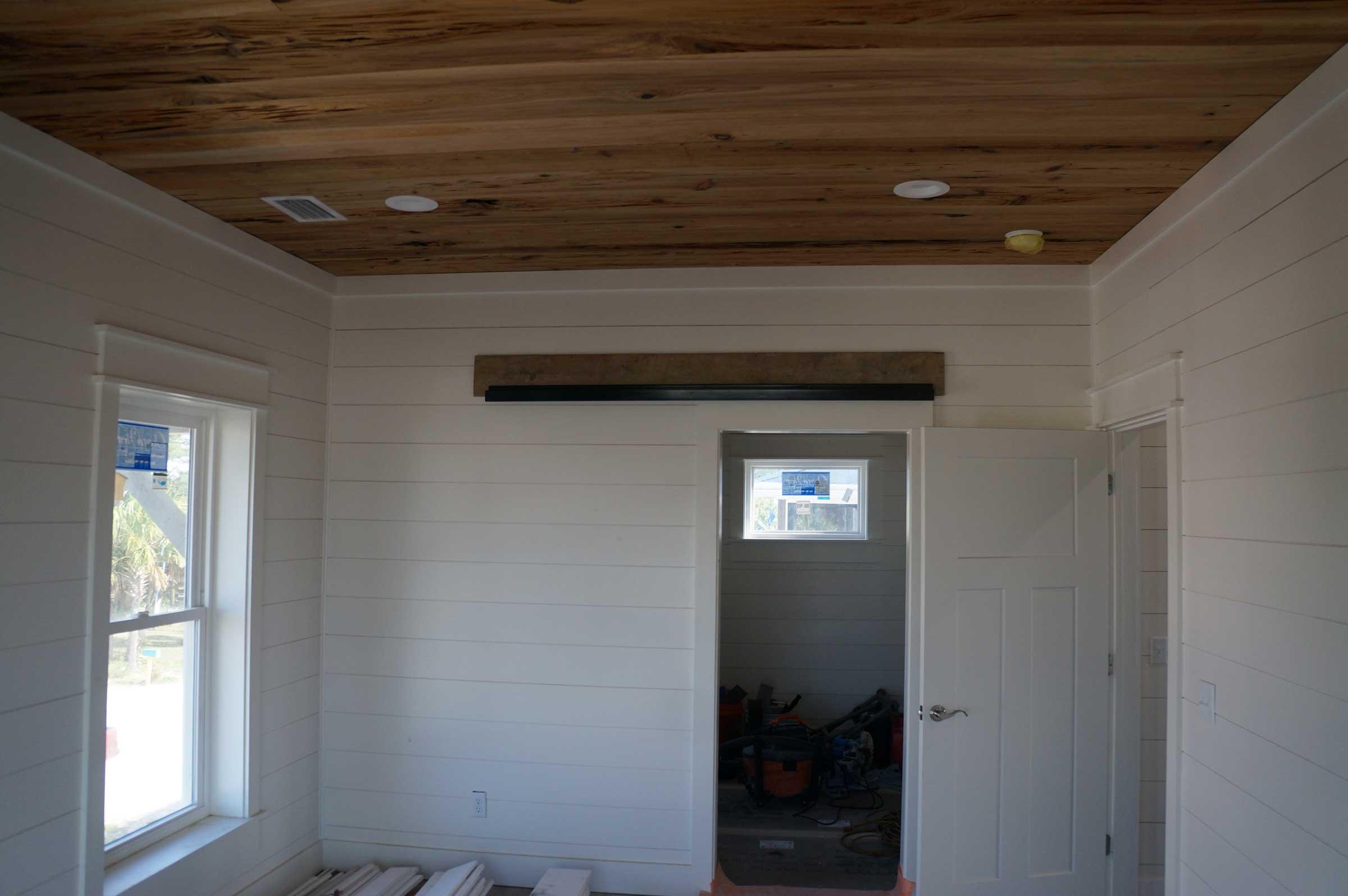 Decorative wood ceiling