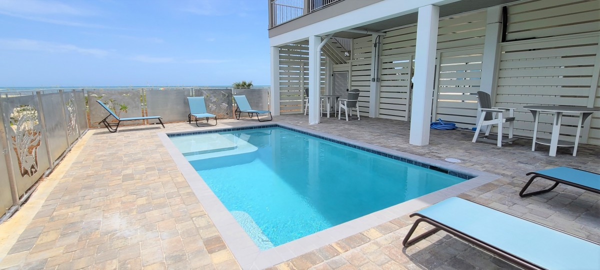 pool with sun deck