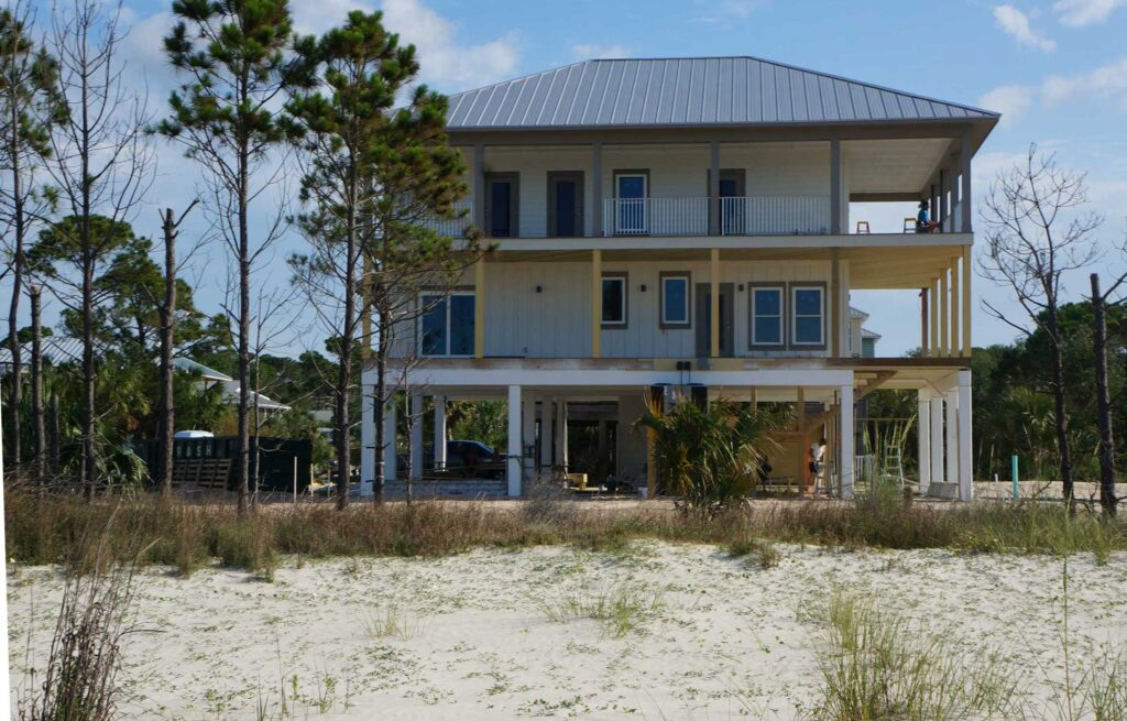 New construction home being built in Mexico Beach, FL