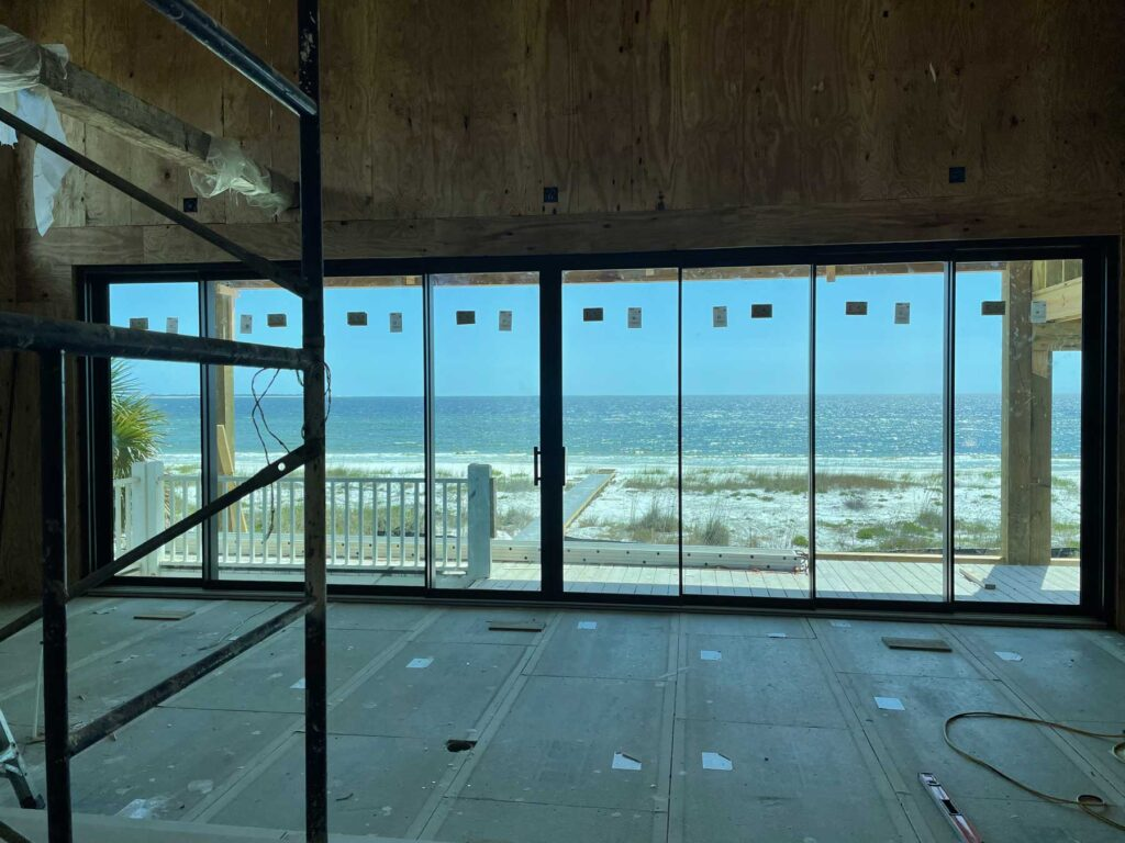 Interior view of waterfront home reno in Port St Joe.